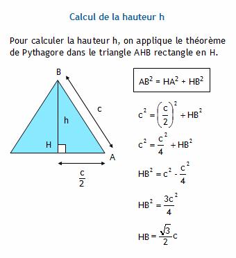 Calculer la hauteur d 39 un triangle quilat ral connaissant son c t - Comment calculer la puissance d un radiateur ...